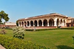 Diwan Jestem, Hall Jawna widownia w Czerwonym Agra forcie Obraz Royalty Free