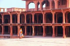 Diwan Khana-i-Khas w Fatehpur Sikri kompleksie, Uttar Pradesh, Ind Obraz Stock