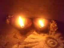 Diwas和轻的摄影低灯摄影和diwali专辑 库存照片