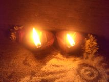 Diwas y fotografía ligera y diwali de la luz corta de la fotografía especiales fotos de archivo