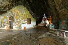 Diwy Guhawa Jaskiniowa świątynia przy Ratnapura w Sri Lanka Zdjęcie Royalty Free