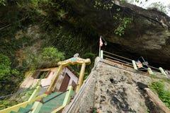 Diwy Guhawa Jaskiniowa świątynia przy Ratnapura w Sri Lanka Zdjęcie Stock