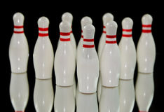 Dix bornes de bowling Photos stock