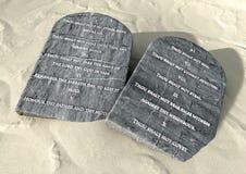 Dix commandements dans le désert Photos libres de droits