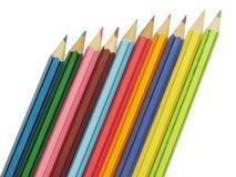 Dix crayons Images libres de droits