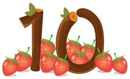 Dix fraises illustration de vecteur