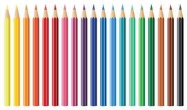 Dix-neuf crayons Photos libres de droits