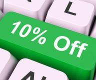Dix pour cent outre de clé signifient la remise ou la vente Photographie stock