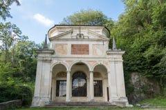 Dixième chapelle chez Sacro Monte di Varese l'Italie photo stock