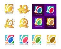 Dixième identité de logo d'icône de célébration de l'anniversaire 10 illustration libre de droits