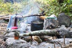 Dixie. campfire. Stock Photo