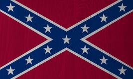 Dixie, Confederate Flag on a Wood Background stock illustration