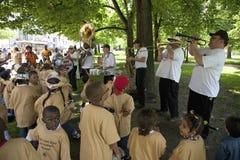 Dixieland band performing Royalty Free Stock Photo
