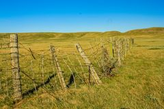 Dixon ranch, grässlättar nationalpark, Saskatchewan, Kanada arkivbilder