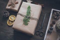 Diy圣诞节 库存照片