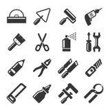 DIY手被设置的工具象 向量 免版税库存图片
