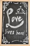 DIY有爱行情的粉笔板 库存图片
