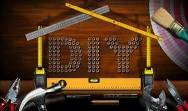 Diy标志-工作工具和式样议院 库存照片