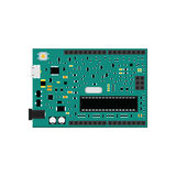 DIY电子uno上与微型控制器 库存图片