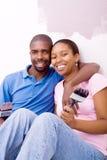 diy非洲的夫妇 库存照片