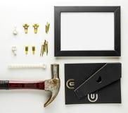 DIY autoguident l'outil de décoration pour le cadre de tableau Photos stock