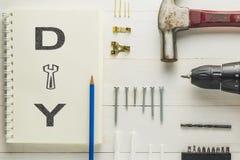DIY autoguident la trousse d'outils de décoration du cadre de tableau Photos libres de droits
