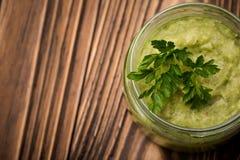 Diy avocado chili domowej roboty pasta Zdjęcia Royalty Free