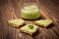 Diy avocado chili domowej roboty pasta Obraz Stock