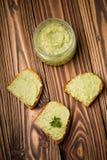 Diy avocado chili domowej roboty pasta Zdjęcie Royalty Free