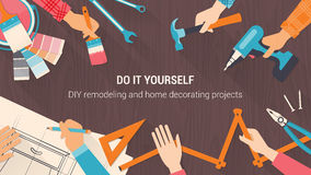 DIY-banner Stock Foto
