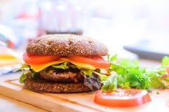DIY beef burger Stock Photo