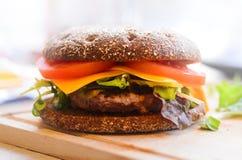 DIY beef burger Royalty Free Stock Photos