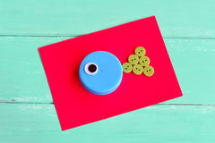 DIY bottle caps. Creative bottle cap ideas. Recycle crafts Royalty Free Stock Image