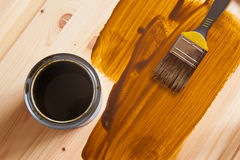 DIY  Brush and a Paint Can Royalty Free Stock Photo