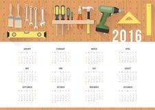 Diy calendar 2016 Stock Images