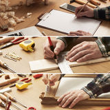 DIY and carpentry collage royalty free stock photography