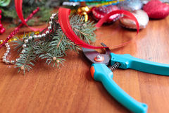 DIY christmas wreath Royalty Free Stock Images