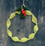 Diy Christmas wreath, Xmas holiday Stock Photography