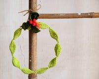 Diy Christmas wreath, Xmas holiday Stock Photos