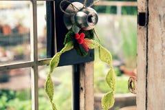 Diy Christmas wreath, Xmas holiday Royalty Free Stock Photos