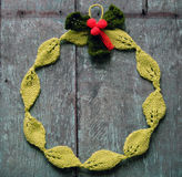 Diy Christmas wreath, Xmas holiday Stock Photos