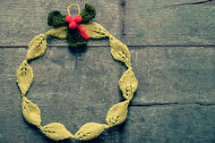 Diy Christmas wreath, Xmas holiday Stock Images