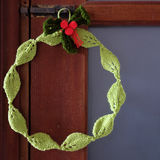 Diy Christmas wreath, Xmas holiday Royalty Free Stock Photo