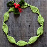 Diy Christmas wreath, Xmas holiday Stock Photography