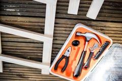 DIY com ferramentas Imagem de Stock Royalty Free