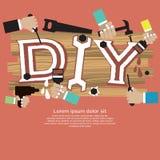 DIY Concept. DIY Vector Illustration Concept.EPS10 vector illustration