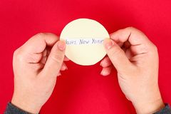 Diy cookie with predictions on a red background. Gift ideas, decor for Chinese new year. Handmade. Fortune cookies from a multi-. Diy cookie with predictions on stock photography