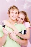 DIY couple Royalty Free Stock Photos