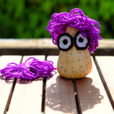 Diy creative owl from conch shell Royalty Free Stock Image