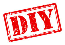 DIY czerwieni znaczka tekst Fotografia Stock